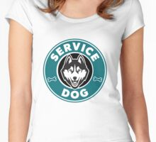 Service Dog Badge Women's Fitted Scoop T-Shirt