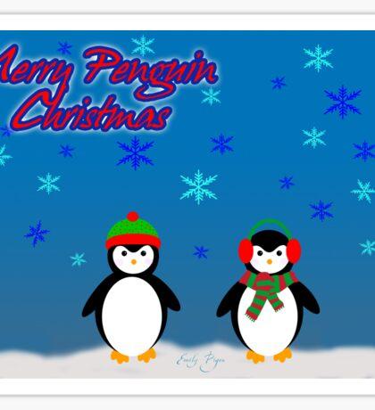 Merry Penguin Christmas! Sticker
