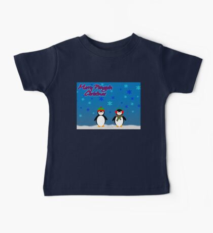 Merry Penguin Christmas! Baby Tee