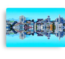 buildings with blue sky at San Francisco, USA Canvas Print