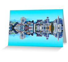 buildings with blue sky at San Francisco, USA Greeting Card