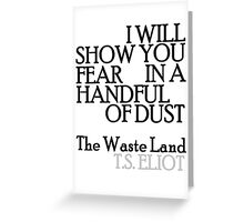 Handful of Dust Greeting Card