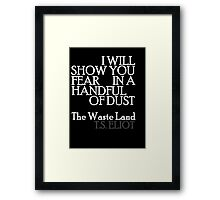 Handful of Dust 2 Framed Print