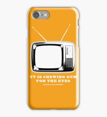 TV Is Chewing Gum For The Eyes Architecture t shirt iPhone Case/Skin