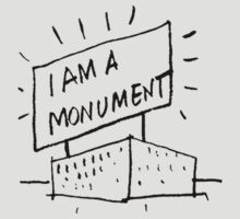 I AM A MONUMENT BLACK ARCHITECTURE T SHIRT by pohcsneb