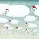 Christmas Cloudy Sheep by fizzyjinks