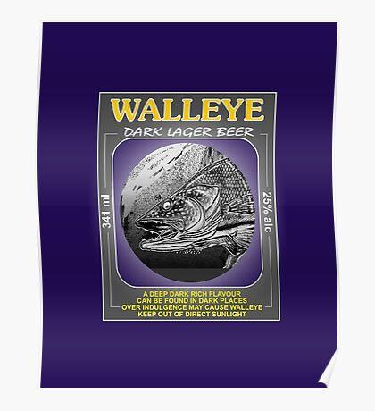 Walleye Dark Lager Beer Poster