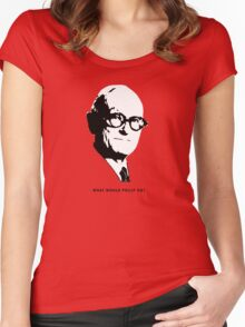What would Philip do? Architecture T shirt Women's Fitted Scoop T-Shirt