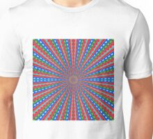 red blue and green line drawing abstract background Unisex T-Shirt