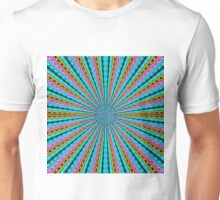 blue pink yellow and black abstract pattern background Unisex T-Shirt