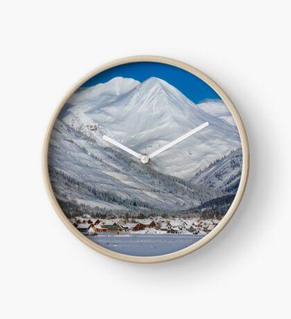 Postcard Shot of Crested Butte Clock