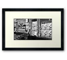 urban street photo Framed Print