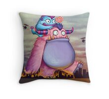 Wondering Monsters Throw Pillow
