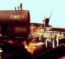 Shipyard circa 1910 by cherylkerkin