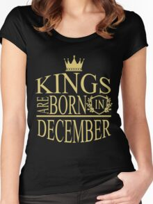 Kings are born in December Women's Fitted Scoop T-Shirt