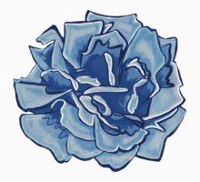 Pretty blue floral print One Piece - Short Sleeve
