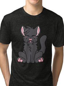 Cute Chibi Black Cat Tri-blend T-Shirt