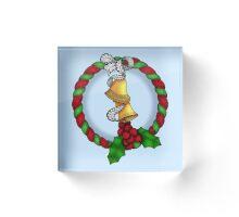 Holly Wreath 2 Acrylic Block