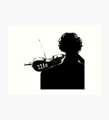 I Play the Violin When I'm Thinking Art Print
