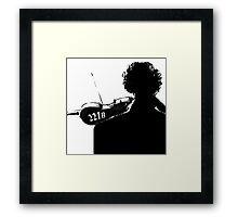 I Play the Violin When I'm Thinking Framed Print