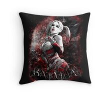 Batman Arkham City Harleyquinn Throw Pillow