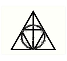 The Geekly Hallows - The Ultimate Geek T-Shirt Art Print