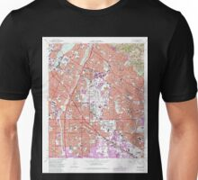 USGS TOPO Map California CA Whittier 102454 1965 24000 geo Unisex T-Shirt