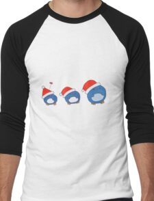 Christmas Penguins Men's Baseball ¾ T-Shirt