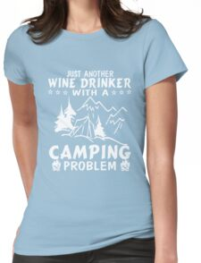 Wine & Camping Womens Fitted T-Shirt