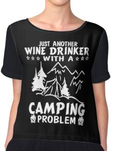 Wine & Camping Chiffon Top