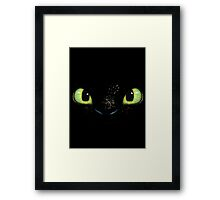 Toothless fiery eyes Framed Print