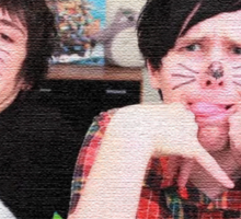 Textures Dan and Phil faces Sticker