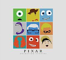 Disney Pixar Characters by Ghipo