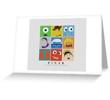 Disney Pixar Characters Greeting Card
