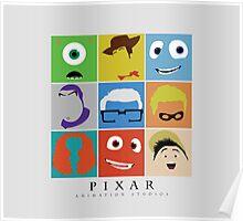 Disney Pixar Characters Poster