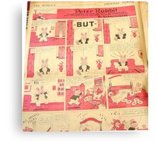 1930's comic, sunday funnies in color page Canvas Print