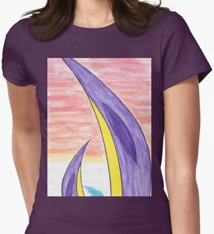 Purple Penguins Womens Fitted T-Shirt