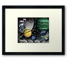 SPACE-REMEMBERING THOSE FAMOUS FIRST WORDS NEIL ARMSTRONG SAID AS HE STEPPED ON THE LUNAR SURFACE--``That's one small step for man; one giant leap for mankind``PICTURE Framed Print