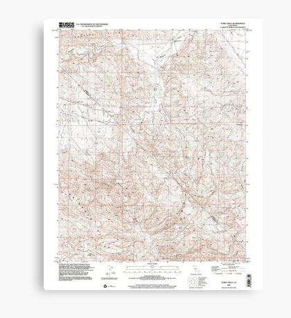USGS TOPO Map California CA Tumey Hills 102068 2000 24000 geo Canvas Print
