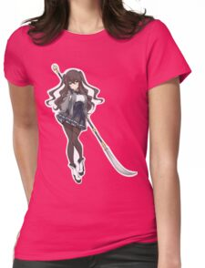 Pretty Anime Spear Warrior Womens Fitted T-Shirt