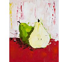 A Pear Behind Photographic Print