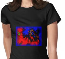 3-D COLORED SPLASH Womens Fitted T-Shirt