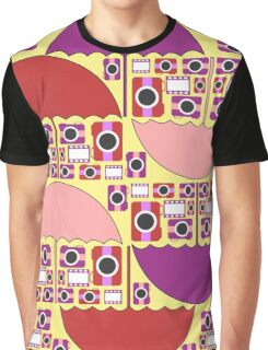 Colorful camera pattern Graphic T-Shirt