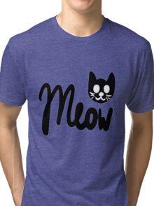 Kawaii Meow  Tri-blend T-Shirt