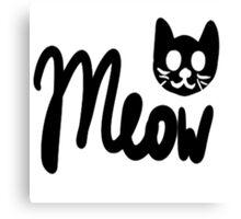 Kawaii Meow  Canvas Print