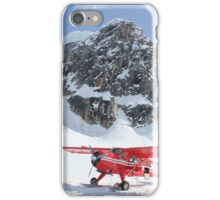 Airplane On Snowy Mountain iPhone Case/Skin