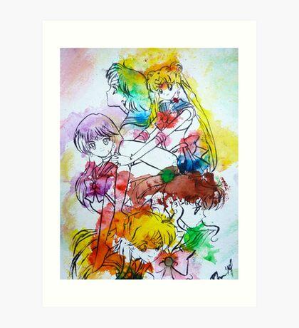 Sailor Scout Splash Art Print