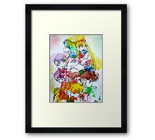 Sailor Scout Splash Framed Print