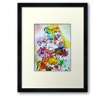 Sailor Scout Splash Framed Print