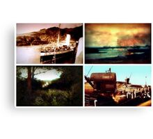 Tiled collage of Edwardian scenes circa 1910 Canvas Print